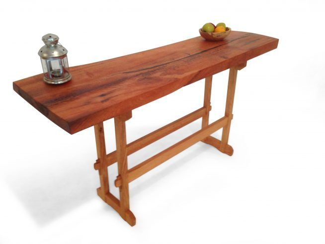 White oak entry table City Bench